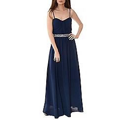 Alice & You - Navy embellished bandeau maxi