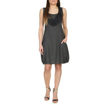 Aaya Grey linen bubble dress - . -
