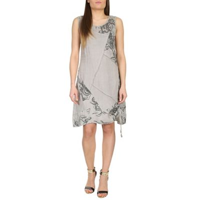 Aaya Fawn linen patchwork dress - . -