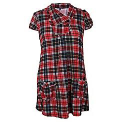 Samya - Red tartan pocketed tunic