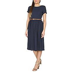 Poppy Lux - Navy sinead dot midi dress