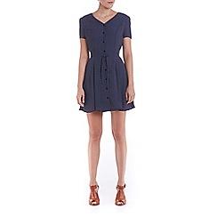 Poppy Lux - Navy vivi dot tea dress