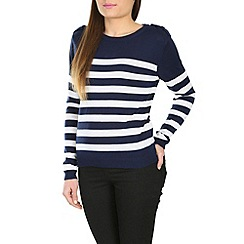 Poppy Lux - Navy shanice stripe sweater