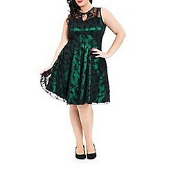 Voodoo Vixen - Green penny dress