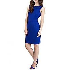 Wolf & Whistle - Blue fitted dress with big pockets blue