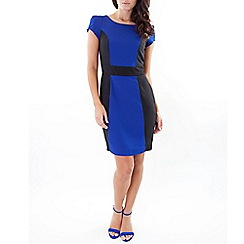 Wolf & Whistle - Blue contrast panel dress blue