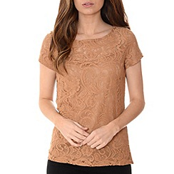 Alice & You - Natural lace layer tee