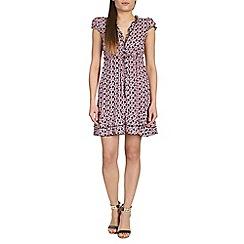 Izabel London - Black polyester short sleeve floral print
