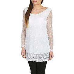Mandi - White mesh knit tunic