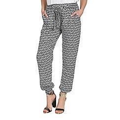 Mandi - Black diamond print harem trousers