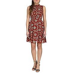 Tenki - Red high neck dress