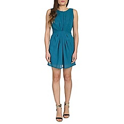 Tenki - Blue chiffon tie back dress