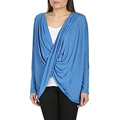 Izabel London - Blue polyester poncho style top