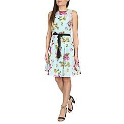 Izabel London - Light blue floral print dress