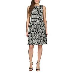Izabel London - Black leaf print dress