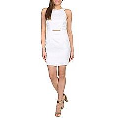Madam Rage - White jacquard cut out dress