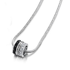Buckley London - Silver black & white ice cube pendant