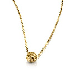 Buckley London - Gold micro pave snowball pendant