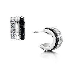 Buckley London - Silver black & white cube earrings