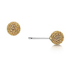 Buckley London - Gold micro pave snowball studs