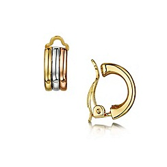 Buckley London - Gold russian clip earrings