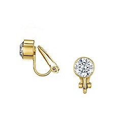 Buckley London - Gold bezel clip earrings