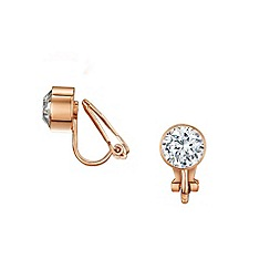 Buckley London - Rose bezel clip earrings