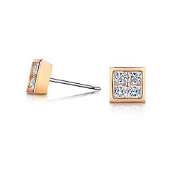 Buckley London - Rose cube stud earrings