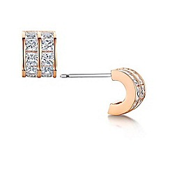 Buckley London - Rose cub hoop earrings