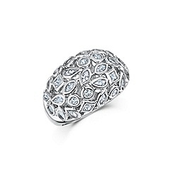 Buckley London - Silver mixed shape ring