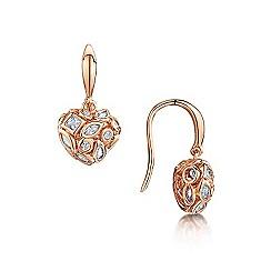 Buckley London - Rose mixed stone heart earrings