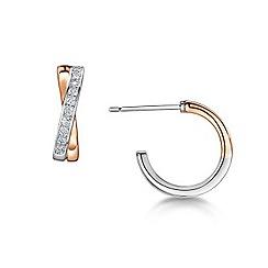 Buckley London - Gold linked loop earrings
