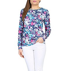 Madam Rage - Multicoloured floral sports jumper