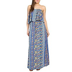 Madam Rage - Multicoloured printed frill maxi