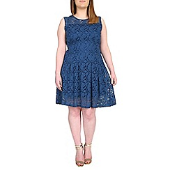 Samya - Blue lace overlay dress