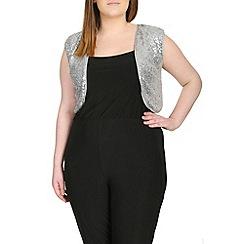 Samya - Grey sequin shrug top
