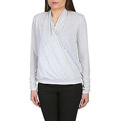 Mandi - Light grey crossover top