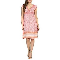 Izabel London - Pink printed mid length dress