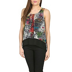 Izabel London - Grey multi coloured sleeveless top