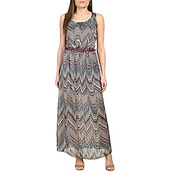 Amaya - Purple multi coloured printed maxi dress