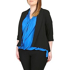Samya - Black sheer detail cardigan