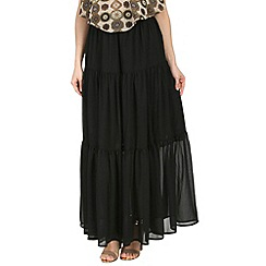 Alice & You - Black printed maxi skirt