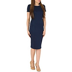 Poppy Lux - Navy wilhelmina midi shift dress