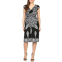 Izabel London - Black baroque printed midi dress
