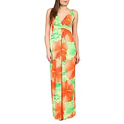 Izabel London - Orange oversize floral print maxi