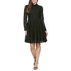 Chase 7 - Black collared lace skater dress