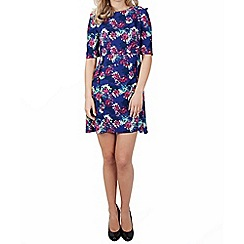 Wolf & Whistle - Multicoloured 3/4 sleeve floral print dress