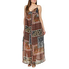 Alice & You - Brown button front maxi dress