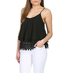 Alice & You - Black lace trim cami top
