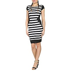 Damned Delux - Black humbug stripe dress